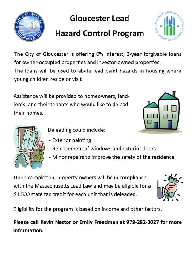 Lead Hazard Control Program Flyer