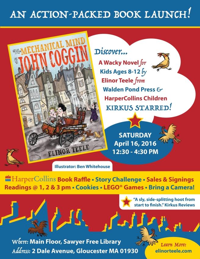 April 16Mechanical Mind of John Coggin - Book Launch Poster