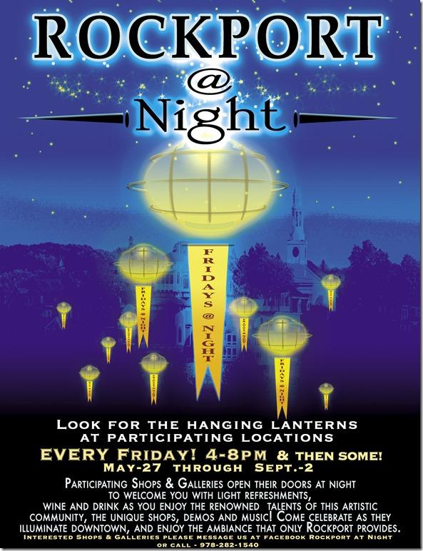 Rockport At Night poster Press-PR 2016