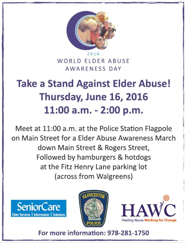 Gloucester Elder Abuse Awareness Rally