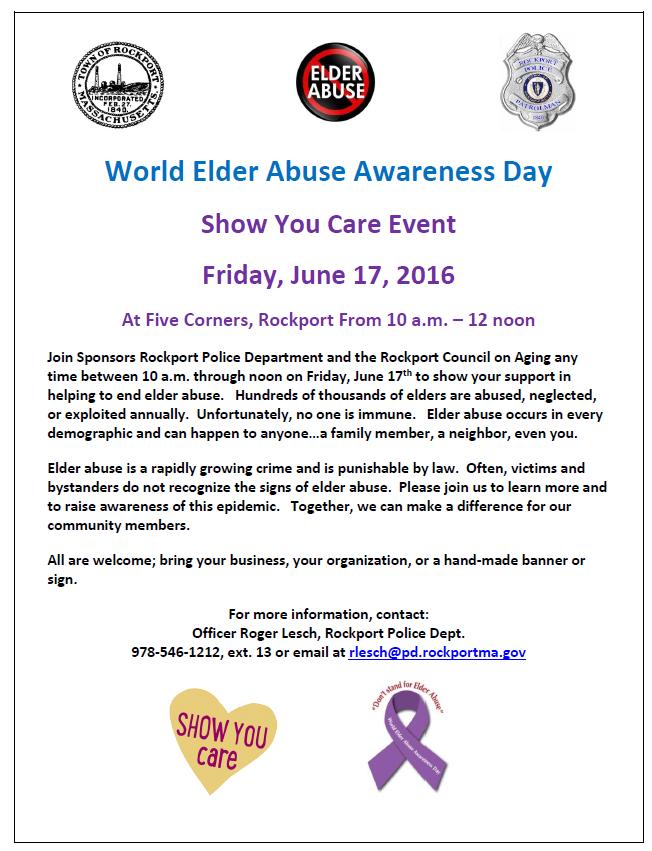 Rockport Elder Abuse Awareness Rally