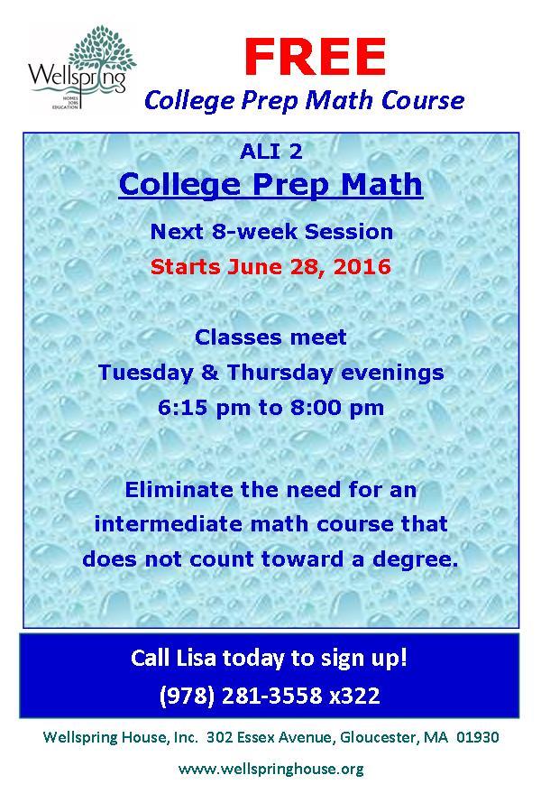 ALI 2 Math Prep Postcard Summer 2016
