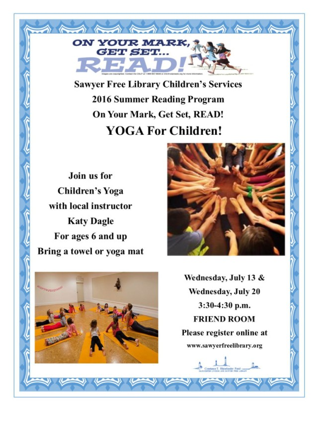 childrens july 13 20yoga flyer