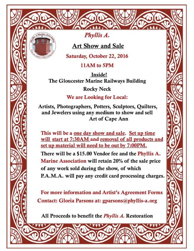 framed show notice