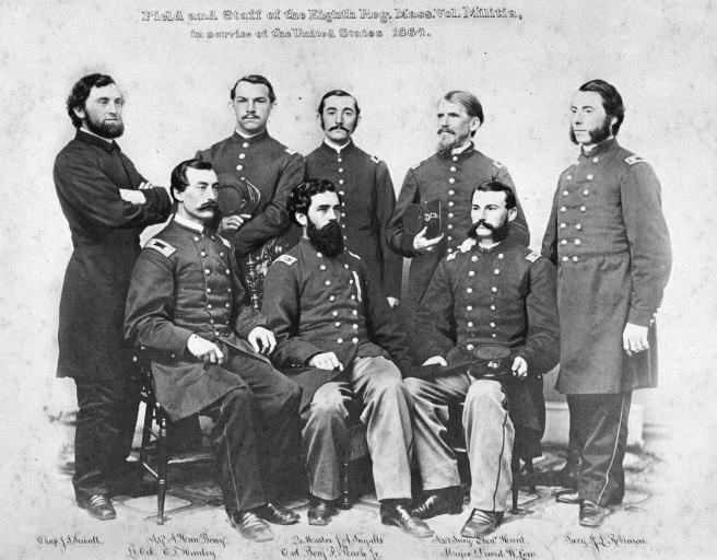 g.a.r. box 1 ff7 8th mass vol. militia, field & staff, 1864 photog unk.