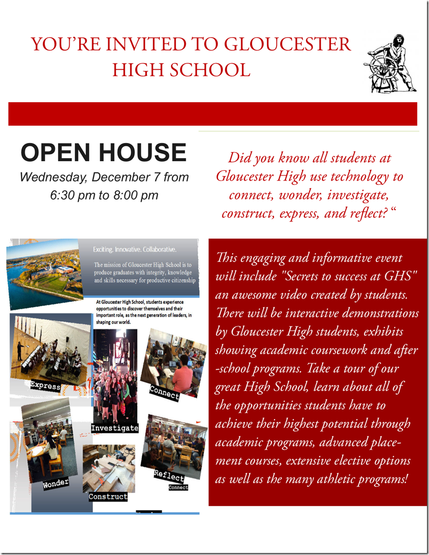 GHS Fall open house 2016