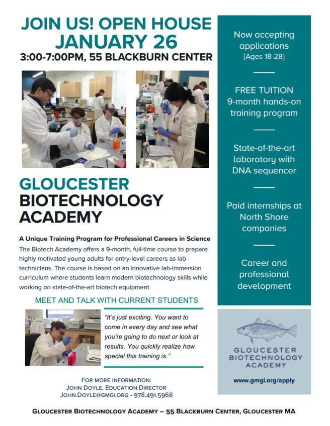 Biotech Academy Recruitment Open House