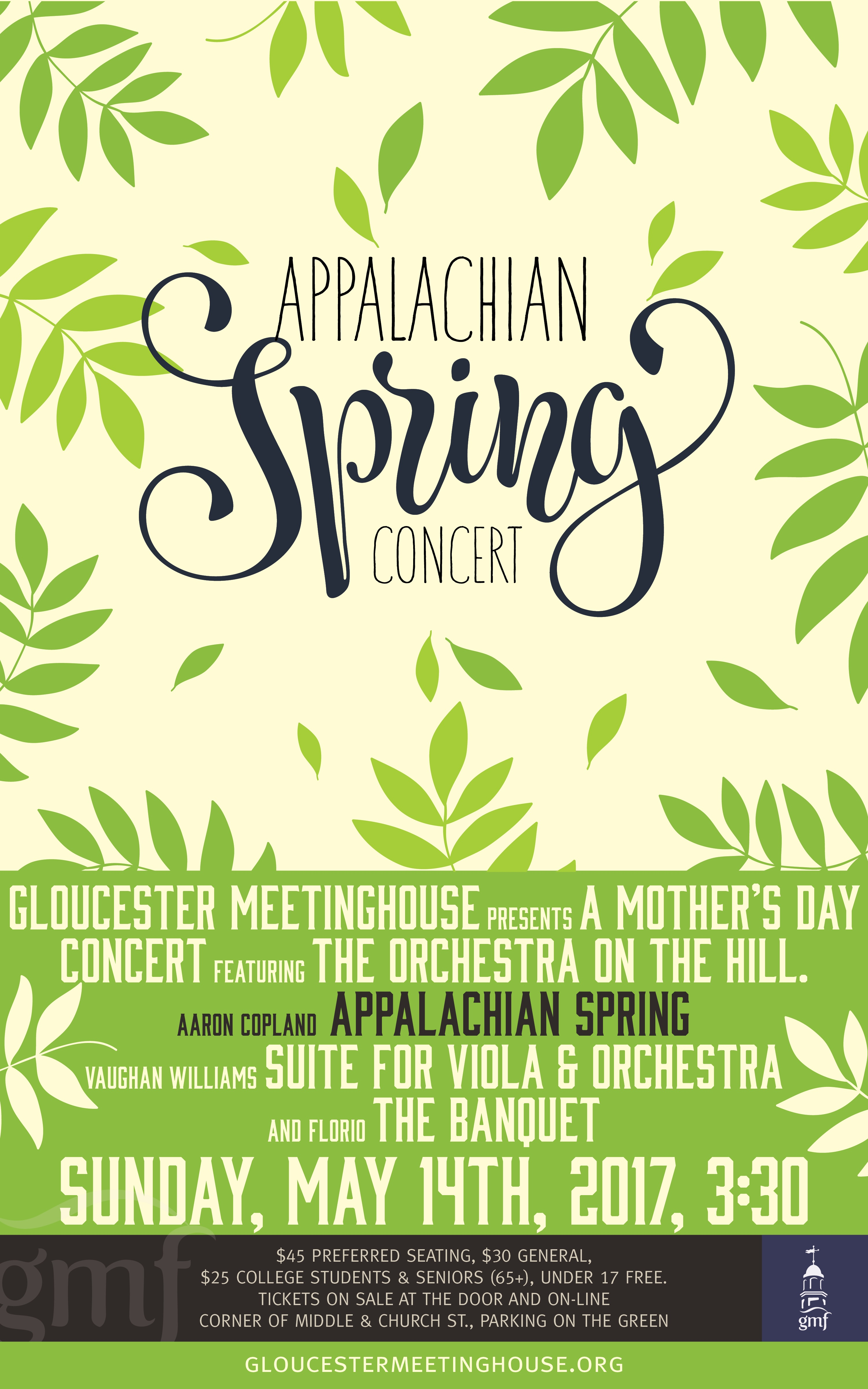 Gloucester Meetinghouse Mother's Day Concert to Featuring Copland's