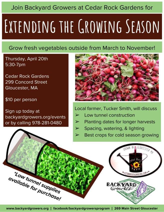 Extending the Growing Season