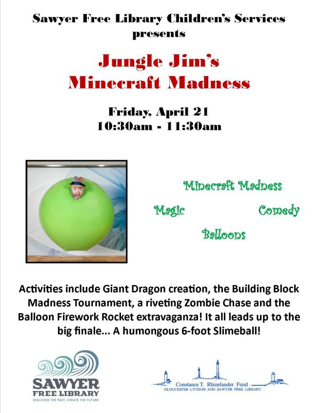 Jungle Jim Minecraft Flyer 2017
