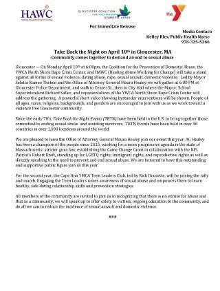 TBTN 2017 Press Release