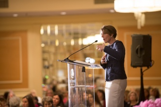 Maura Healey addresses audience
