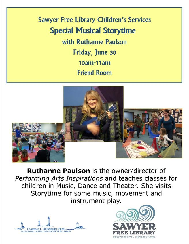 Ruthanne Paulson Storytime June 2017