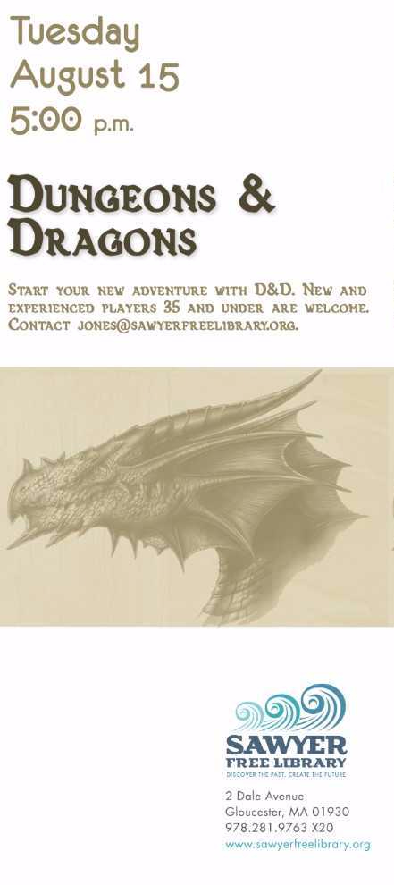 dungeons & dragons Aug 15