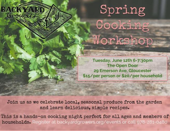 2018 Spring Cooking Workshop