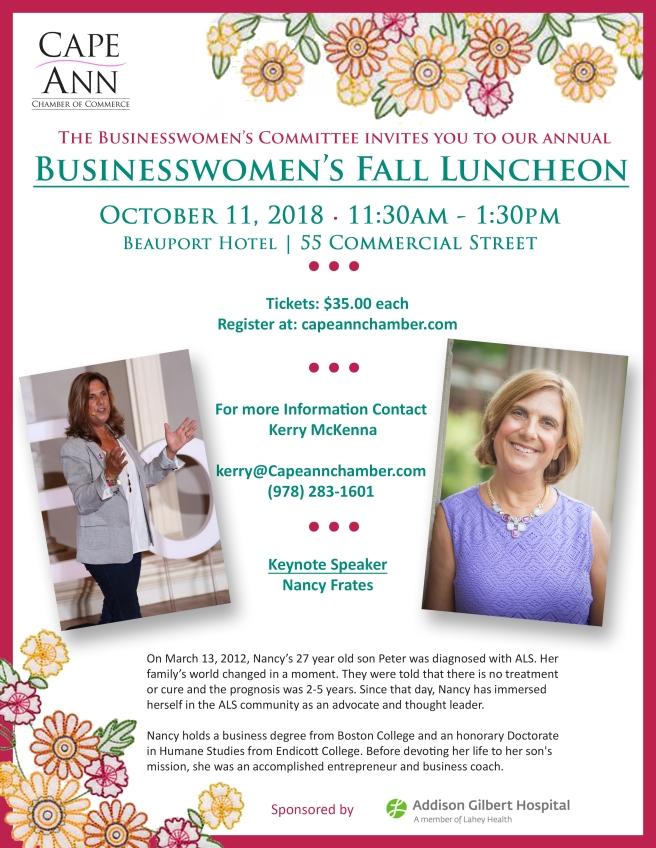 Businesswomen's Fall Luncheon Gloucester
