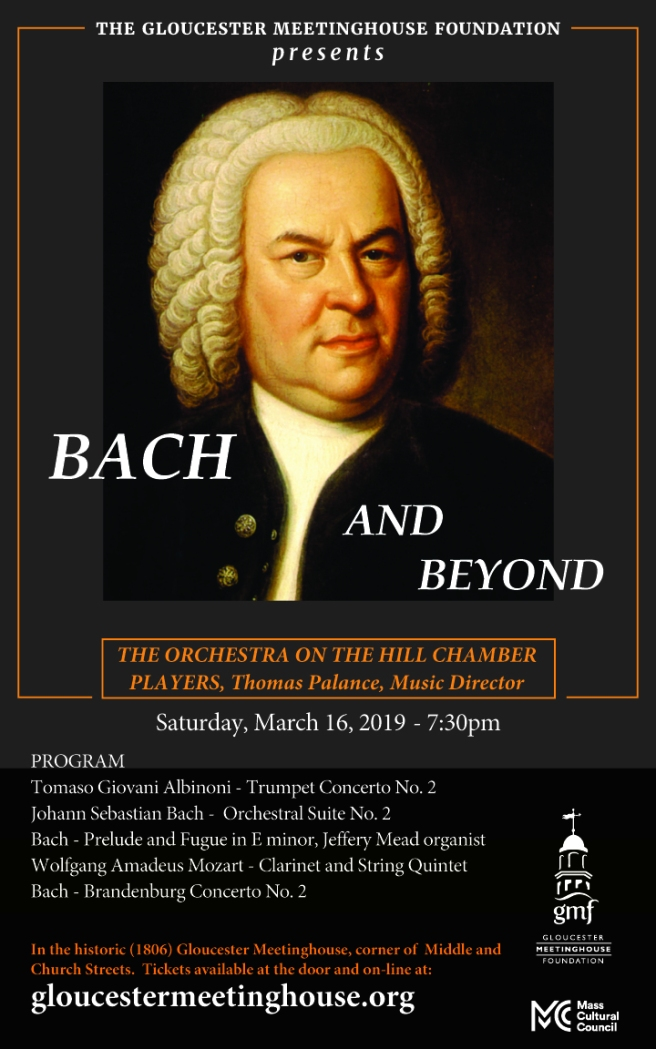 March 16, 2019 Bach and Beyond Concert, Poster, Final Version