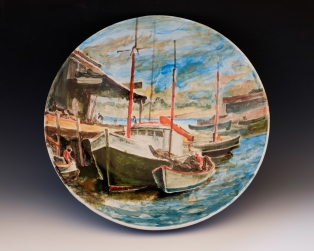 "Gruppe's Gloucester by Mark Lindsay.Bowl is 13.5"" diameter, 3.5"" high."