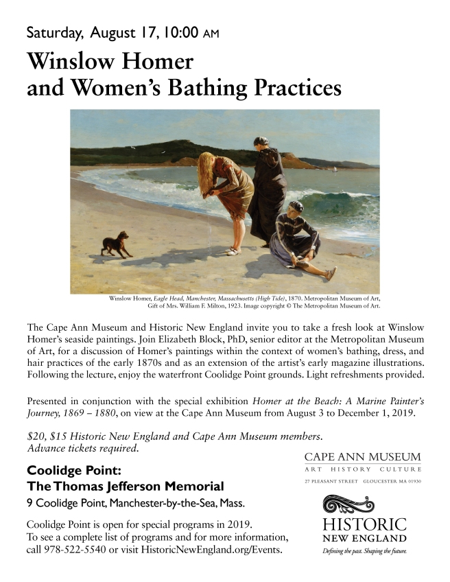 Winslow Homer lecture 2019