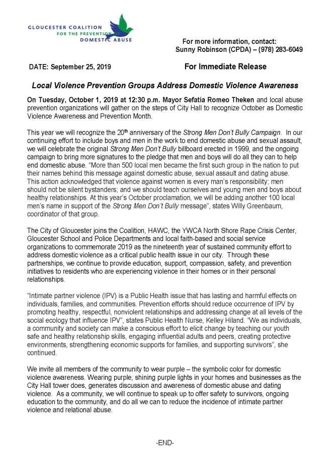 Final Press Release