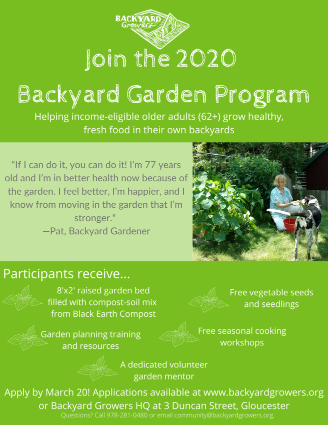 Join the 2020 Backyard Garden Program